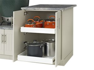 outdoor cabinter pullout drawers