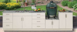 outdoor cabinet sink grill caddy