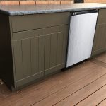 brown outdoor cabintets