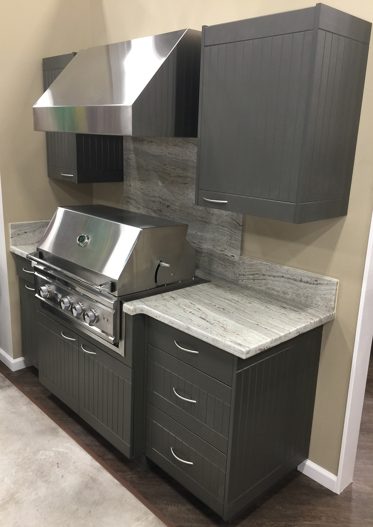 grey outdoor cabinets