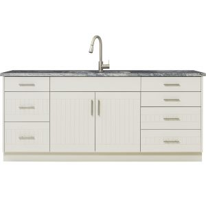 outdoor cabinet white