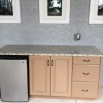 tan outdoor cabinets
