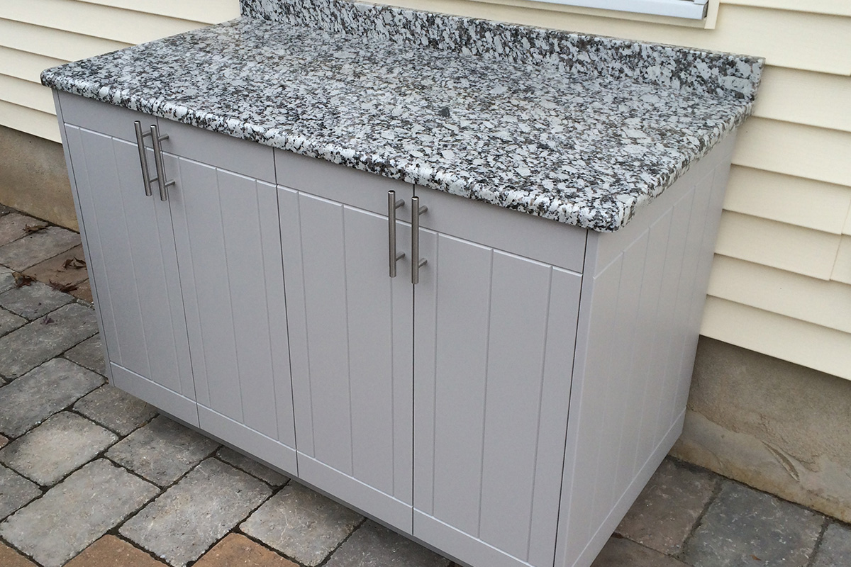 Naturekast Outdoor Summer Kitchen Cabinet Gallery: White Outdoor Cabinets Close Up 2